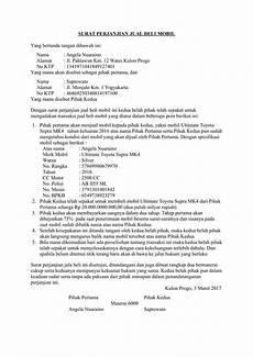 download contoh surat perjanjian jual beli mobil terbaru