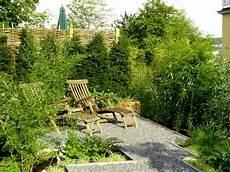 Sehr Kleiner Garten Ideen - gartengestaltung mit bambus splitt und stahl 75
