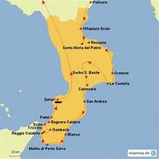 Stepmap Urlaub Kalabrien 2015 Landkarte F 252 R Italien