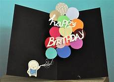 Geburtstag Karte Basteln - pop up birthday card balloons by studiosmo on etsy