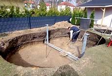 Pool Ohne Bodenplatte - aufbau stahlwand pools in 9 schritten poolsana der