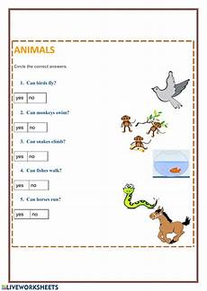 animals abilities worksheets 13782 animals abilities animals worksheet