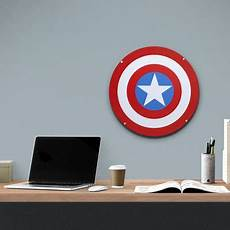 captain america shield light up wall art with sound