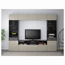 ikea best 197 tv storage combination glass doors black