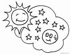 sun and moon coloring pages getcoloringpages