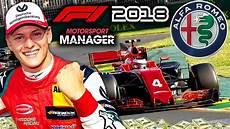 Mick Schumacher 2018 - mick schumacher makes f1 debut f1 2018 alfa romeo