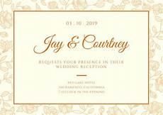 wedding reception card templates customize 607 wedding reception card templates canva