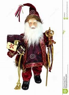 weihnachtsmann puppe getrennt stockbild bild golden