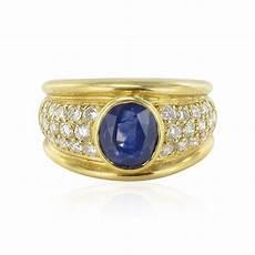 bague jonc diamant saphir or jaune bijouxbaume