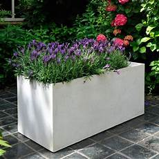 bac à fleurs bac 224 fleurs fibre de terre clayfibre l80 h40 cm blanc