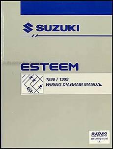 1998 suzuki esteem wiring diagrams 1998 1999 suzuki esteem wiring diagram manual original