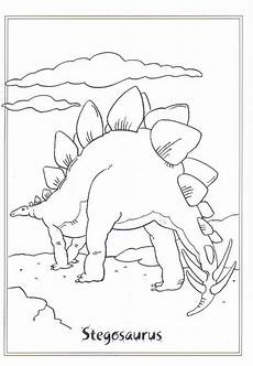 coloring page dinosaurs 2 stegosaurus dinosaurier