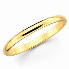 10k solid yellow gold 2mm plain men s and s wedding