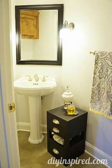 half bathroom makeovers half bathroom makeover before and after diy inspired