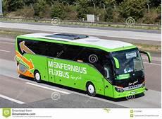 Intercity Flixbus On The Highway Editorial Photo