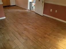 floor installation photos wood look porcelain tile in