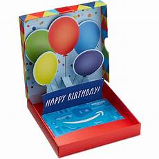 Gift Card For Any Amount In A Birthday Pop Up