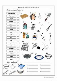 vocabulary matching worksheet in the kitchen worksheet free esl printable worksheets made by
