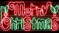 vickysun com animated 104cm led merry christmas sign with holly leaves motif rope lights