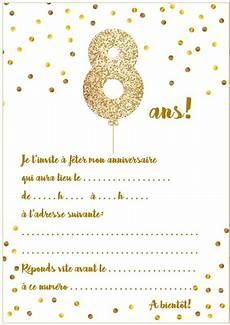 jeux pour anniversaire 8 ans carte d invitation d anniversaire 8 ans
