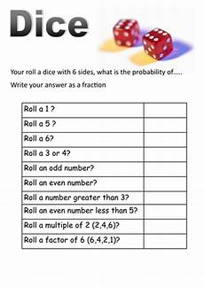 probability worksheets cards 5723 dice and cards probability worksheets teaching resources