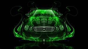 Mercedes Benz CLK GTR Fire Abstract Car 2014  El Tony