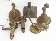 old brass sconce ls wall lights lot vintage lighting parts