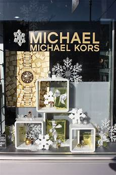 michael kors christmas window display in vancouver bc by