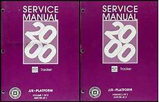 vehicle repair manual 2000 chevrolet tracker auto manual 2000 chevy tracker repair shop manual original 2 volume set