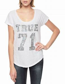 true religion european true 71 sequin womens relaxed t