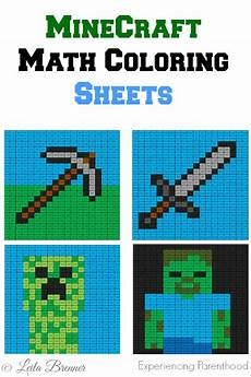 minecraft math coloring sheets experiencing parenthood minecraft pinterest educacion
