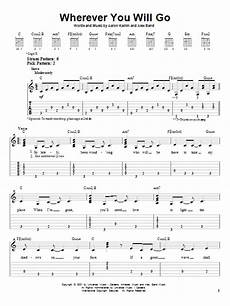 wherever you will go sheet music by the calling easy guitar 21663