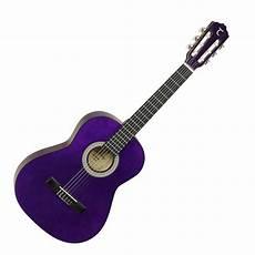 purple guitar tanglewood 3 4 classical acoustic guitar trans purple at gear4music