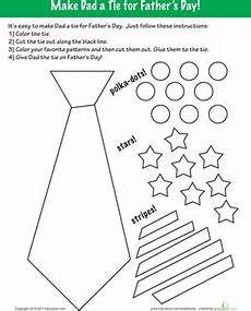 father s day coloring make a tie worksheet education com
