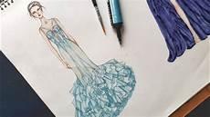 Tutorial Menggambar Baju Gaun Pesta Designer Marchesa