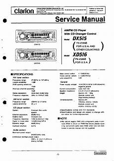 clarion cmd4a exploded views and parts list service manual free download schematics eeprom
