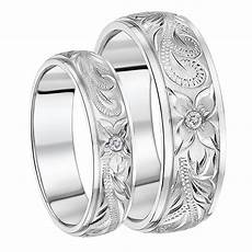 his hers titanium rings engraved cz couples wedding rings 6 8mm titanium sets at elma