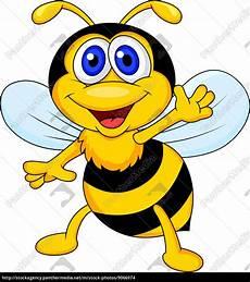 Biene Malvorlagen Xing Nette Biene Winken Stock Photo 9066974