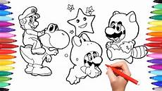 mario and yoshi coloring pages for how to