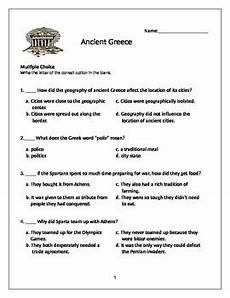 ancient greece test 6th grade social studies tpt