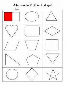 whole halves and fourths worksheet made by mrs 1st grade maths math classroom