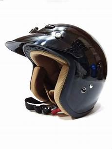 jual quality helm retro helm classic helm bogo helm vespa hitam glossy aif612 di lapak