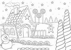 Ausmalbilder Weihnachten Haus Ausmalbild Weihnachten Lebkuchenhaus Ausmalbilder