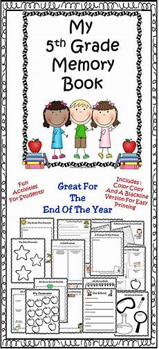 end of year activities 5th grade memory book fifth grade