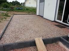 Schotterbett Der Terrasse Ist F 252 R Das Pflastern