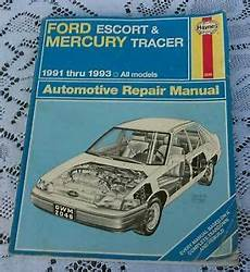 old cars and repair manuals free 1993 ford f150 engine control vintage book haynes ford escort mercury tracer repair