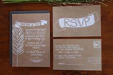 Wedding Invitation Kraft Paper illustrated wedding invitation rustic kraft paper onewed