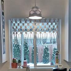 Kitchen Curtains Diy by Diy Macrame Kitchen Curtain Vintage Cottage