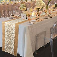 10 215 burlap hessian lace wedding table runner vintage rustic party table decor ebay