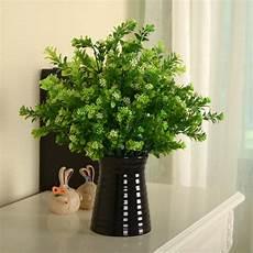 green fake artificial plant plastic flower grass bush home office decor ebay